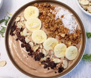 Chocolate Caramel Smoothie Bowl square | 2 Cookin Mamas