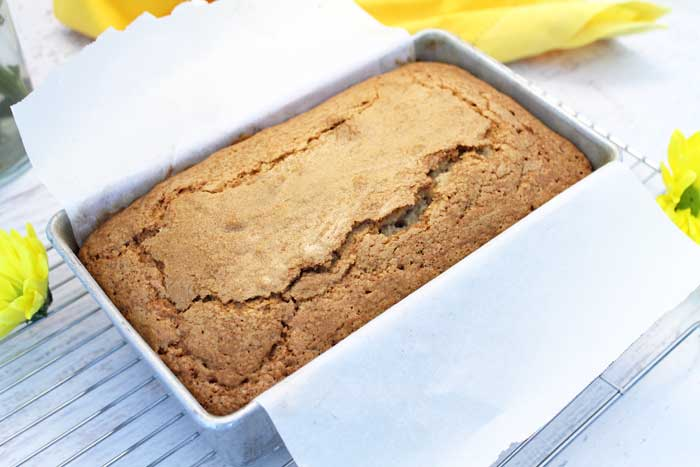 Grilled Cinnamon Sugar Sour Cream Pound Cake baked