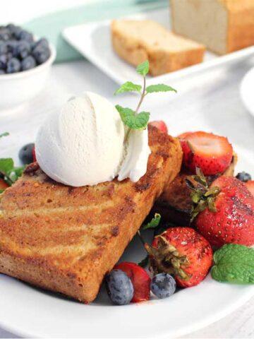 Grilled Cinnamon Sugar Sour Cream Pound Cake square