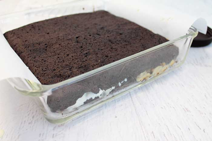 Homemade Ice Cream Sandwiches top with chocolate wafer