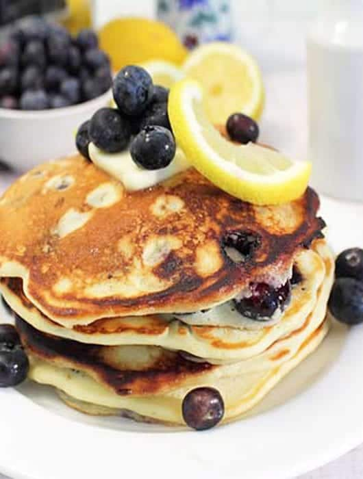 Lemon Blueberry Pancakes square