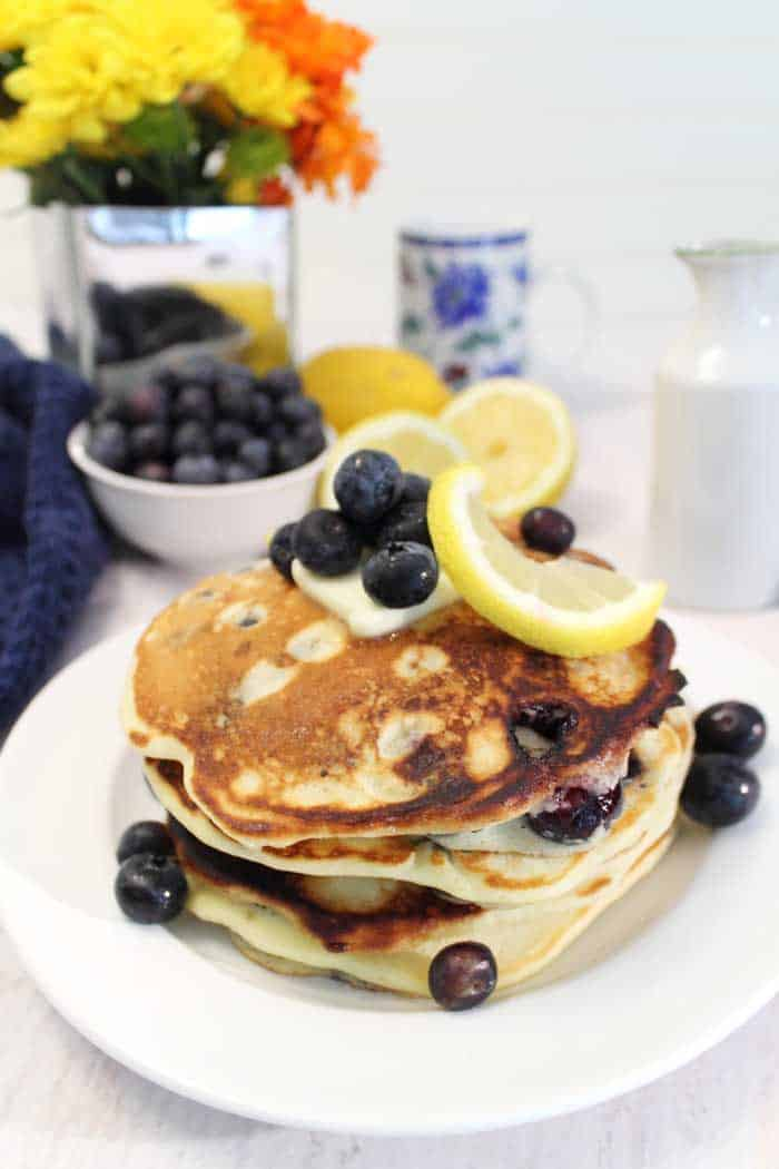 Lemon Blueberry Pancakes tall