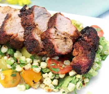 Tex Mex Pork with Tomato Corn Salsa square 1
