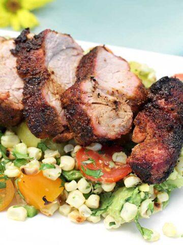 Tex Mex Pork with Tomato Corn Salsa square 1
