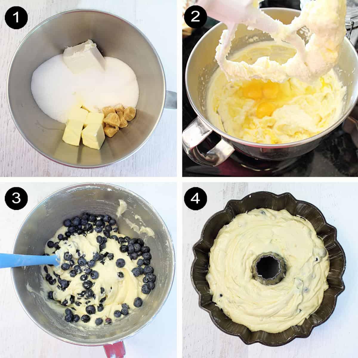 Prep steps 1-4 for bundt cake.