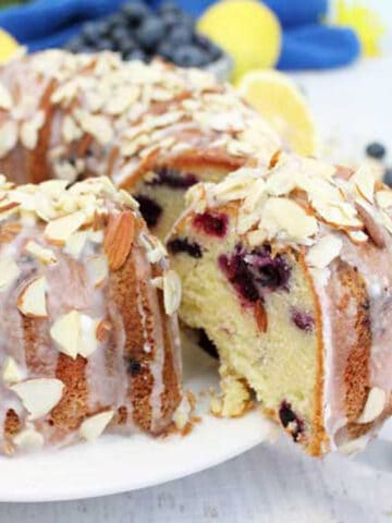 Blueberry Almond Bundt Cake square 1