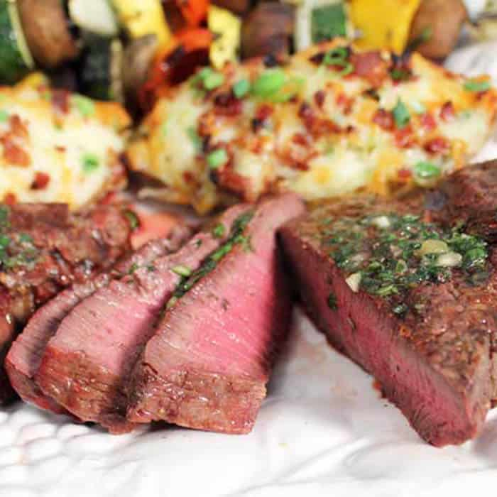 Easy Grilled Filet Mignon Dinner With Herb Butter 2 Cookin Mamas