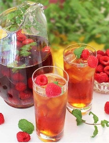 Raspberry Mint Iced Tea square
