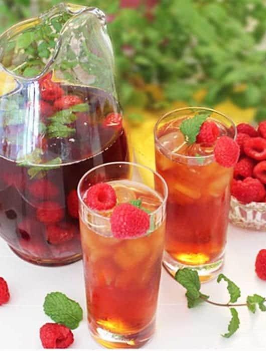 Raspberry Mint Iced Tea square