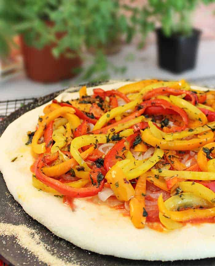 Three Pepper Pizza added peppers
