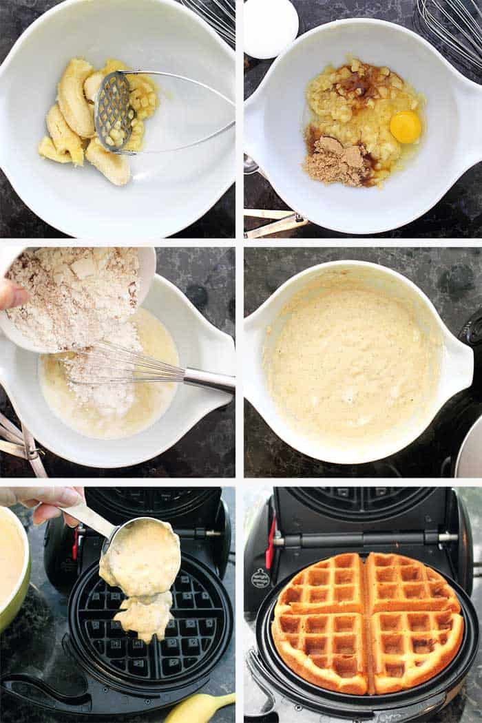 Banana Bread Waffles steps