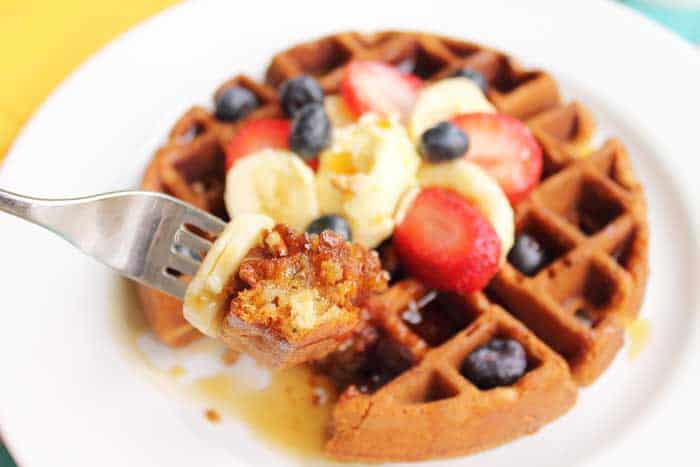 Banana Bread Waffles bite