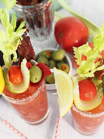 Bloody Maria with Bourbon Candied Bacon square