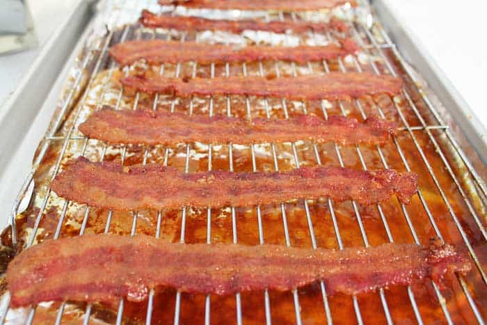 Bourbon Candied Bacon cooked