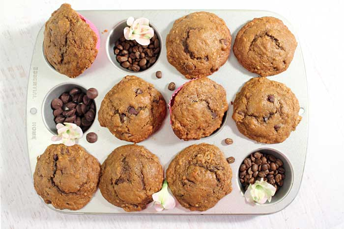 Espresso Chocolate Chip Muffins baked