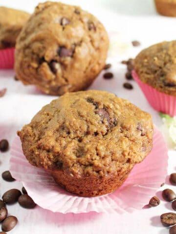 Espresso Chocolate Chip Muffins single square