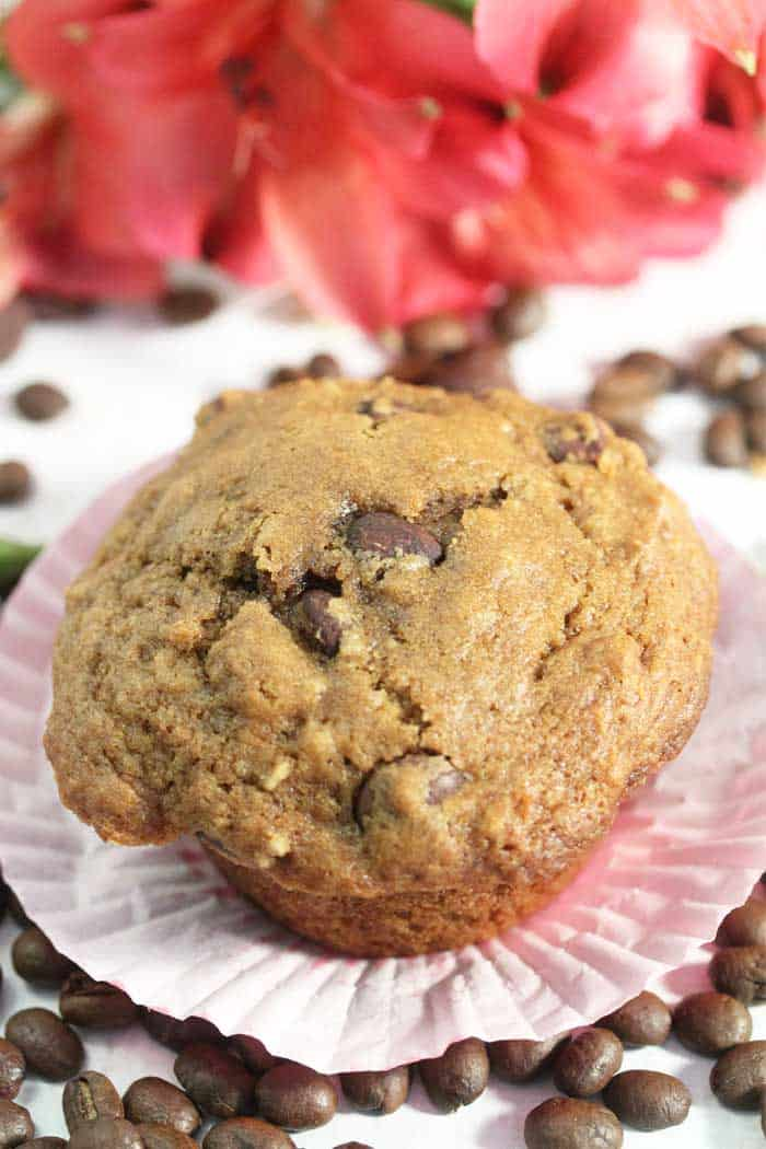 Espresso Chocolate Chip Muffins single