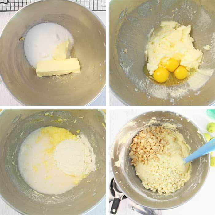 Key Lime White Chocolate Macadamia Bread steps