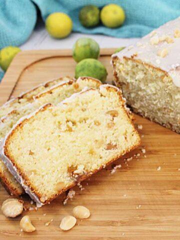 Key Lime White Chocolate Macadamia Bread square 2