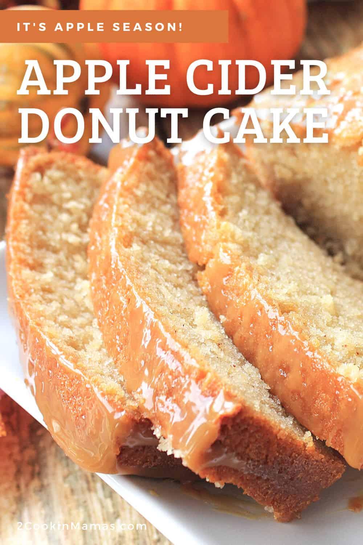 Apple Cider Donut Pound Cake Loaf