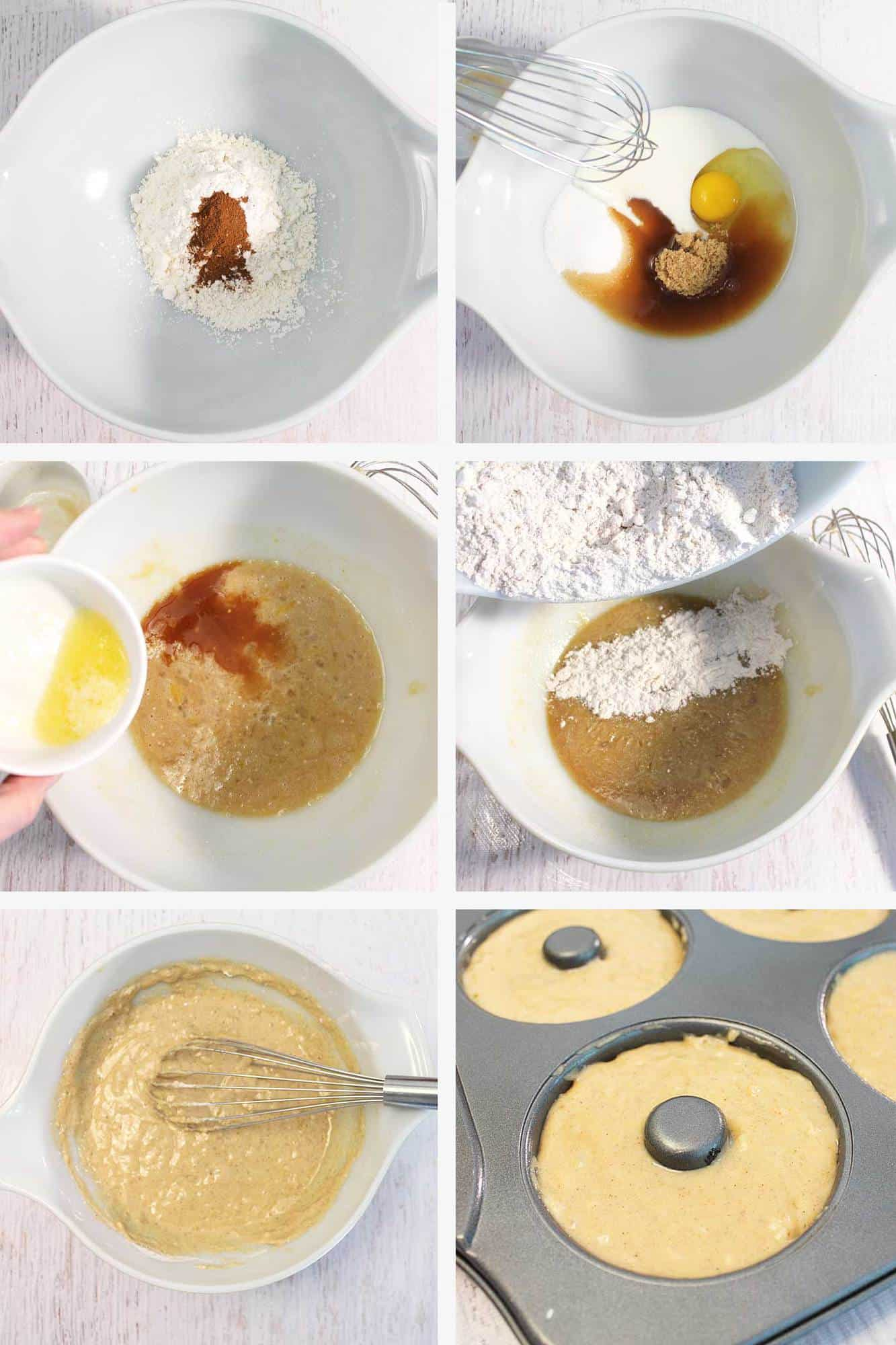 Apple Cider Doughnuts Steps 1-6