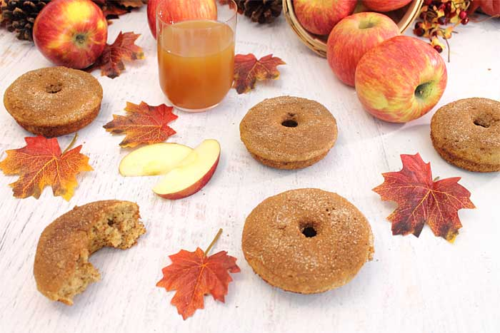 Apple Cider Doughnuts laid out
