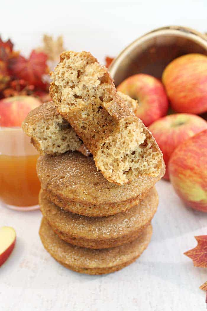 Apple Cider Doughnuts tall stacked