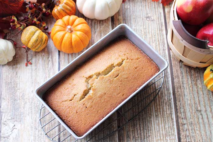 Apple Cider Pound Cake baked