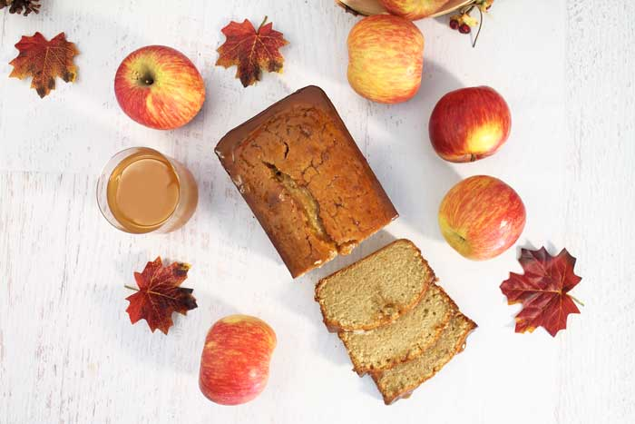 Apple Cider Pound Cake overhead