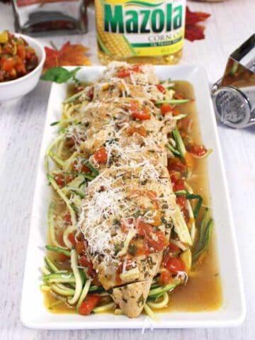 Bruschetta Chicken Skillet plated square