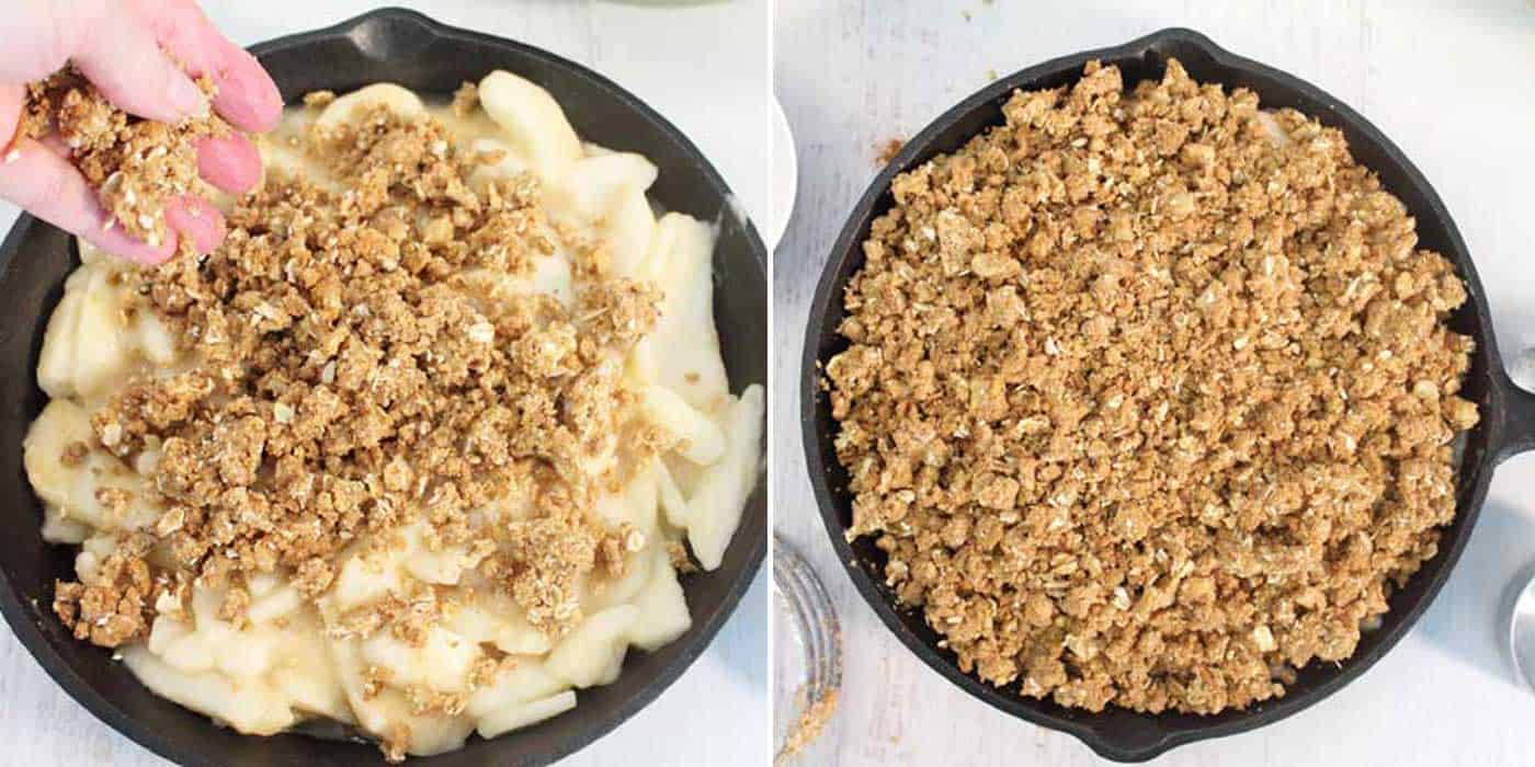Gingersnap Pear Crumble Topping Steps 5-6