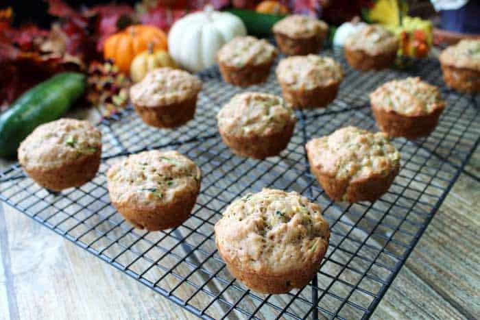 Zucchini Bran Muffins cooling