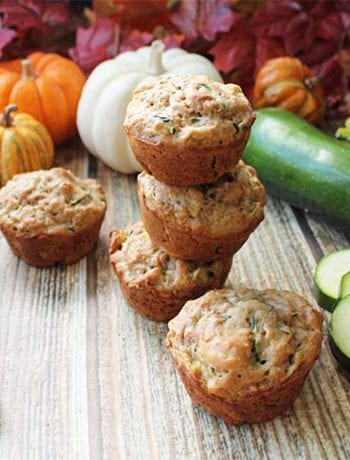 Zucchini Bran Muffins stacked square