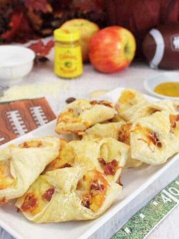Cheesy Apple Bacon Bundles plated square