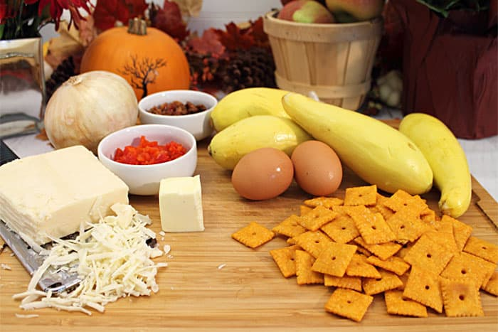 Cheesy Yellow Squash Casserole ingredients