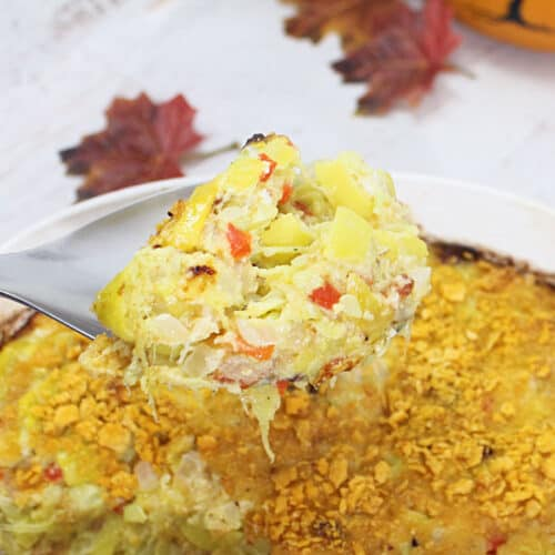 Cheesy Yellow Squash Casserole square