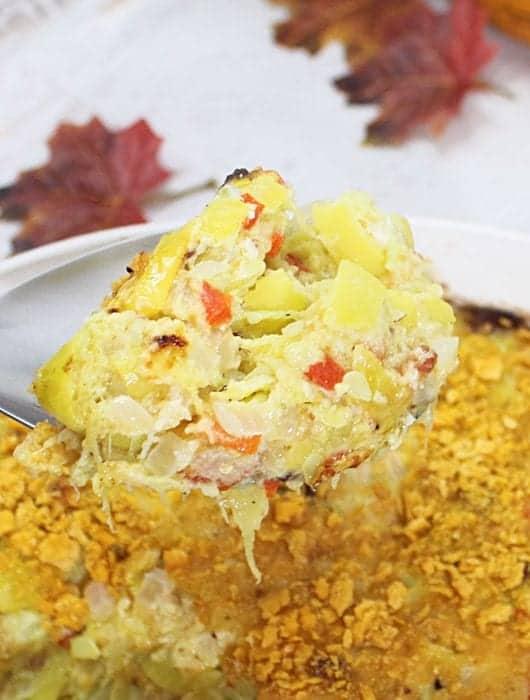 Cheesy Yellow Squash Casserole square