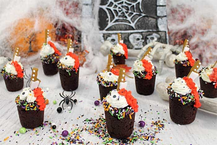 Halloween Chocolate Cherry Cookie Shots creep wide