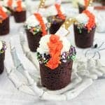 Halloween Chocolate Cherry Cookie Shots square