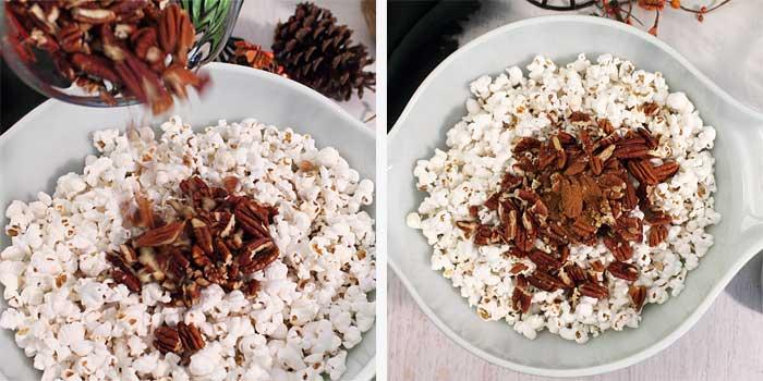 Pumpkin Caramel Popcorn Steps 1-2