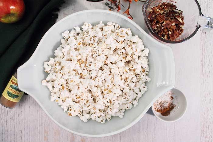 Pumpkin Caramel Popcorn ingredients