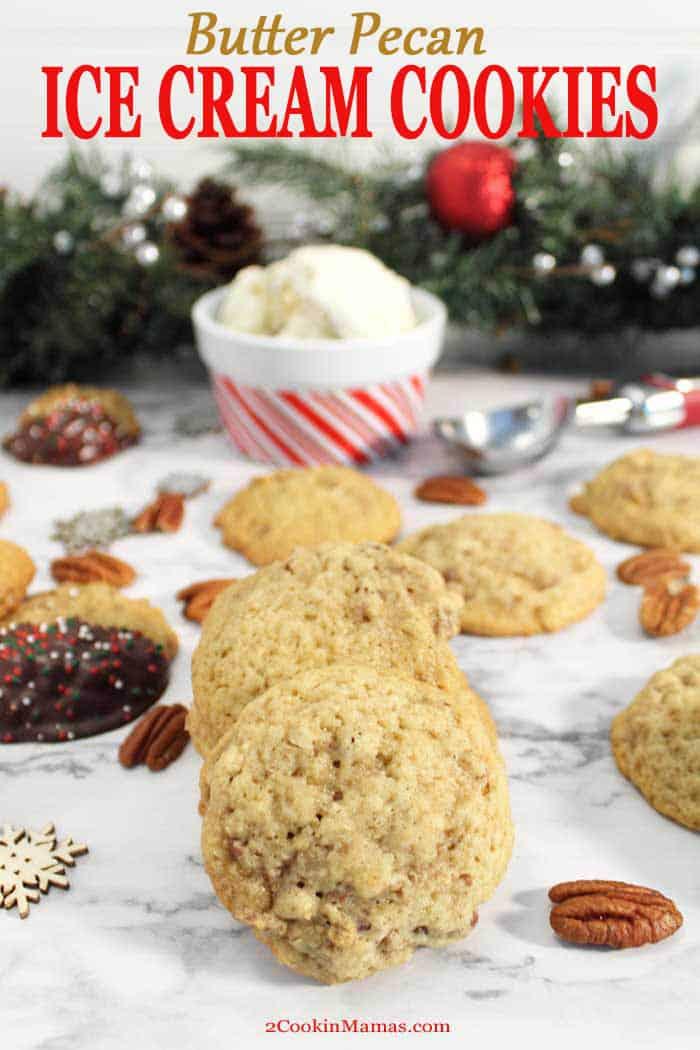 Butter Pecan Ice Cream Cookies