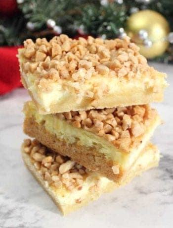 Creme Brulee Cheesecake Bars square