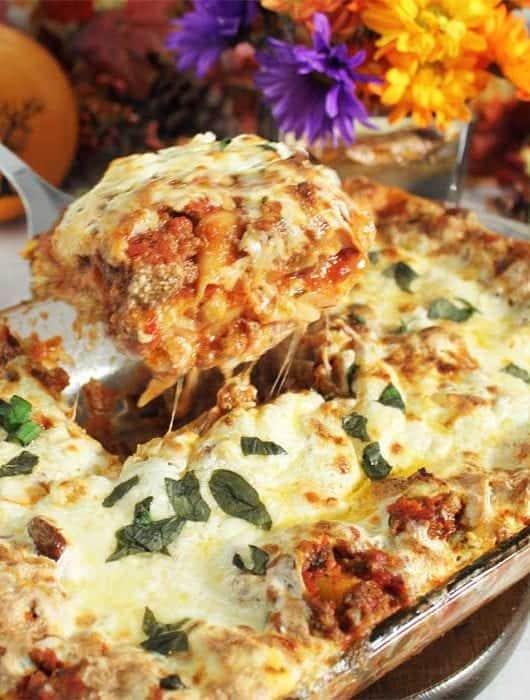 Homemade Meat Lasagna square