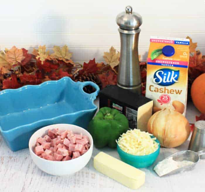 Cheesy Scalloped Potatoes and Ham ingredients