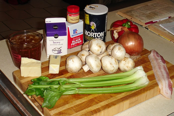 Turkey Tetrazzini ingredients