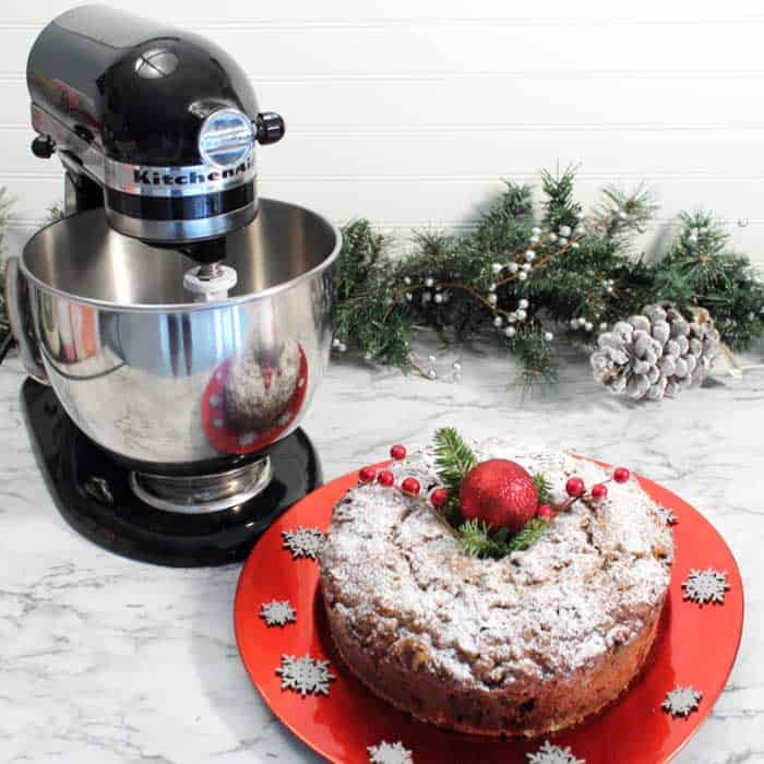 Applesauce Spice Fruit Cake with mixer