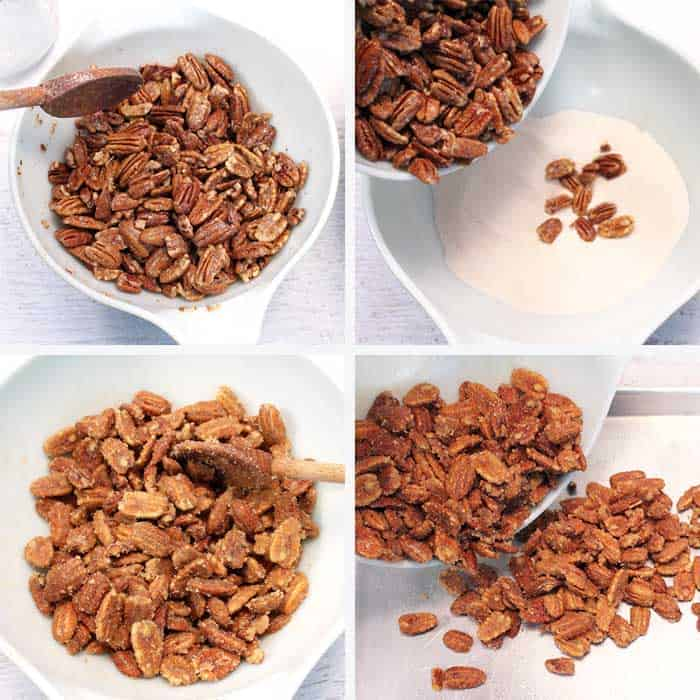 Candied Pecans Steps 5-8