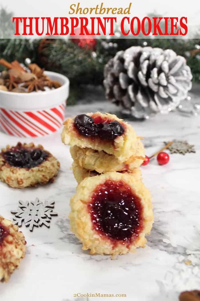 Cherry Jam Thumbprint Cookies