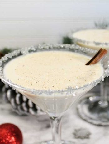 Creamy Eggnog Martini square